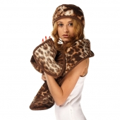 Полоска на голову (меринос леопард коричневый)