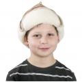 Детская шапка-ушанка (скандинавка бежевая)