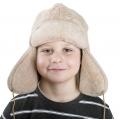 Детская шапка-ушанка (лама)