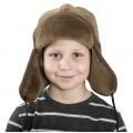 Детская шапка-ушанка (шоколадный верблюд)
