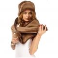 Комплект шапка шоколадный верблюд +шарф шоколадный верблюд