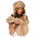 Комплект шапка серебристый верблюд +шарф серебристый верблюд
