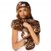 Шарф (меринос леопард коричневый)