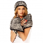 Шарф (меринос леопард чёрный)