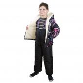 Детская куртка + полукомбенезон (меринос / плащевка граффити)