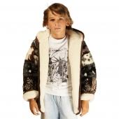 Детская куртка с капюшоном (меринос / аляска)