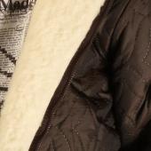 Детская куртка с капюшоном (меринос / плащёвка коричневая)