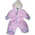 Детский комбинезон (меринос / плащевка детская розовая)
