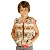 Детский жилет (меринос фольклор)