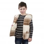Детский жилет (меринос квадраты)