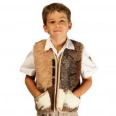Детский жилет (меринос заплатка)