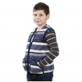 Детский жилет из шерсти мериноса Скандинавка синяя