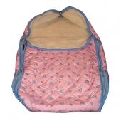 Детский конверт-трансформер (меринос / плащевка розовая)
