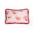 Детская подушка (белый меринос / поликоттон розовый Мишка)