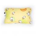 Детская подушка (белый меринос / поликоттон жёлтый Овечки)