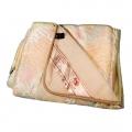 Двухслойное одеяло (белый меринос / атлас-сатин розовый)