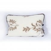 Подушка из шерсти (кашемир веточка / шоколадный  верблюд)
