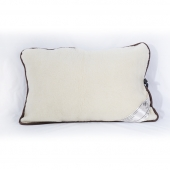 Подушка (меринос белый / клетка)
