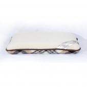 Ортопедическая подушка (меринос белый / клетка)