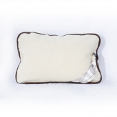 Подушка (меринос белый / заплатка)