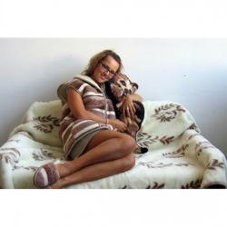 Легкое одеяло (кашемир веточка)