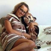 """Декоративная подушка """"КОШКА"""" (лама)"""