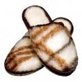 Шлёпанцы (меринос клетка / белый)