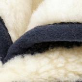 Домашние высокие тапочки (скандинавка синяя / белый меринос)