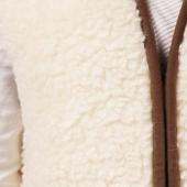 Женский жилет (меринос белый)