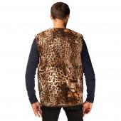 Мужской жилет (меринос леопард коричневый)