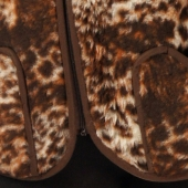 Женский жилет (меринос леопард коричневый)
