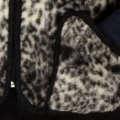 Мужской жилет (меринос леопард чёрный)