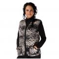 Женский жилет (меринос леопард чёрный)