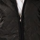Женский жилет (чёрная плащёвка / белый меринос)