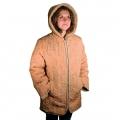Женская куртка (бежевая плащёвка) с капюшоном