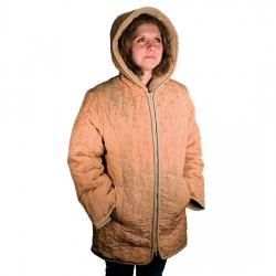 Женская куртка (бежевая плащёвка) Лана с капюшоном