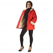 Женская куртка (красная плащевка) с капюшоном