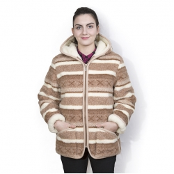 Женская куртка с капюшоном (скандинавка бежевая)
