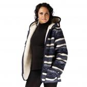 Женская куртка с капюшоном (скандинавка синяя)