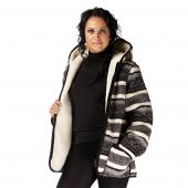 Женская куртка с капюшоном (скандинавка чёрная)
