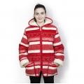 Женская куртка с капюшоном (скандинавка красная)