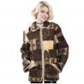 Женская куртка с воротником (меринос зима)