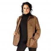 Женская куртка (верблюд шоколадный) с воротником