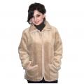 Женская куртка (верблюд серебристый) с воротником