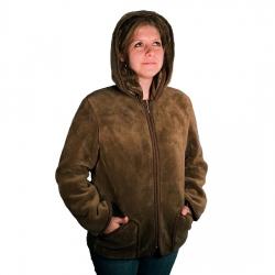 Женская куртка с отстег. капюшоном (верблюд шоколадный)