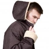 Мужская куртка с капюшоном (лама)