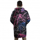Мужская куртка Граффити плащёвка с капюшоном