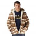 Мужская куртка (скандинавка бежевая) с капюшоном