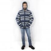 Мужская куртка (скандинавка синяя) с капюшоном