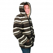 Мужская куртка (скандинавка чёрная) с капюшоном